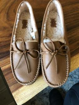 $150 UGG AUSTRALIA Women's Deluxe Leather Loafer  Tan Size 8