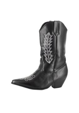 Child Black Cowboy Boots Small