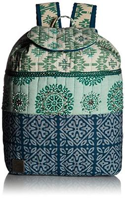 prAna Women's Bhakti Backpack, Emerald Waters, One Size