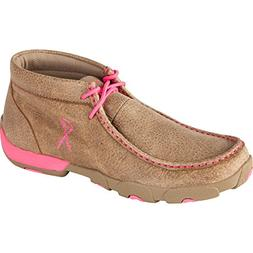 Twisted X Boots Women's Driving Moc,Bomber/Neon Pink Leather