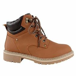 Forever Broadway 5 Tan Military combat Women's Ankle High Bo