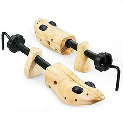 Echodo 2-way Cedar Shoe Trees Wooden Shoe Stretcher Adjustab