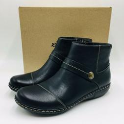 Clarks Collection Women's Ashland Pine Leather Ankle Booties