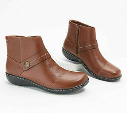 Clarks Collection Women's Leather Ankle Boots - Ashland Pine