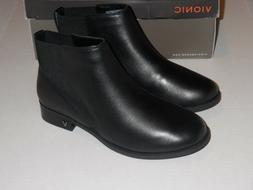 Vionic COUNTRY THATCHER Black Leather Pull On Ankle Boots Wo