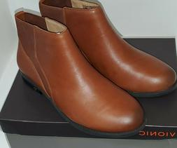 Vionic COUNTRY THATCHER  BROWN Leather Pull On Ankle Boots W