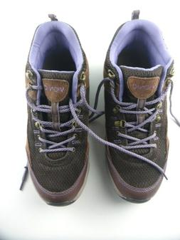Vionic Cypress Brown Purple Womens Hiking Boots Lace Shoes S
