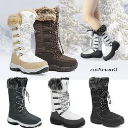DREAM PAIRS Women Warm Faux Fur Lined Waterproof Mid Calf Zi
