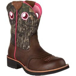 Ariat Women's Fatbaby Cowgirl Distressed Brown/Oak Leather S