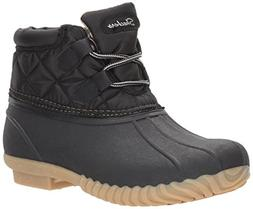 Skechers Women's Hampshire Winter Boot,Black,8 M US