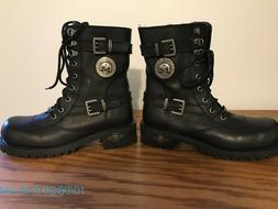 Harley-Davidson Women's Black Leather Motorcycle Boots Size