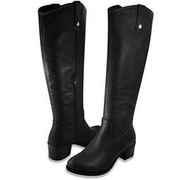 Rampage Womens Italie Riding Boot 7 Black Distressed
