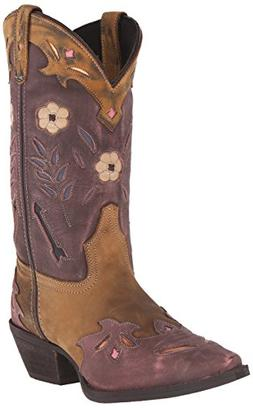Laredo Women's Miss Kate Western Boot, Tan/Pink, 6 M US