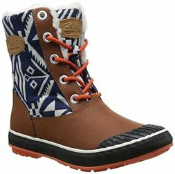 KEEN Women's Elsa Boot Waterproof Winter Boot, Tortoise Shel
