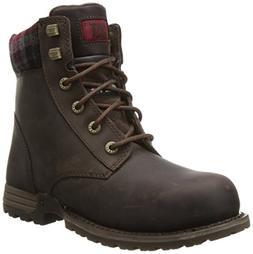 Caterpillar Women's Kenzie Steel Toe Work Boot, Bark, 6.5 M