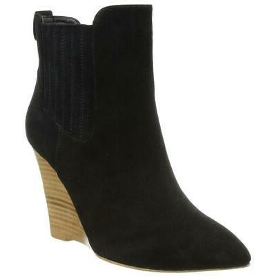 Madison Harding Nero Chelsea Women's Black Suede Boots 7M