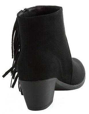 Alpine Swiss Arosa Ankle Boots Shoes Block High Heel Suede