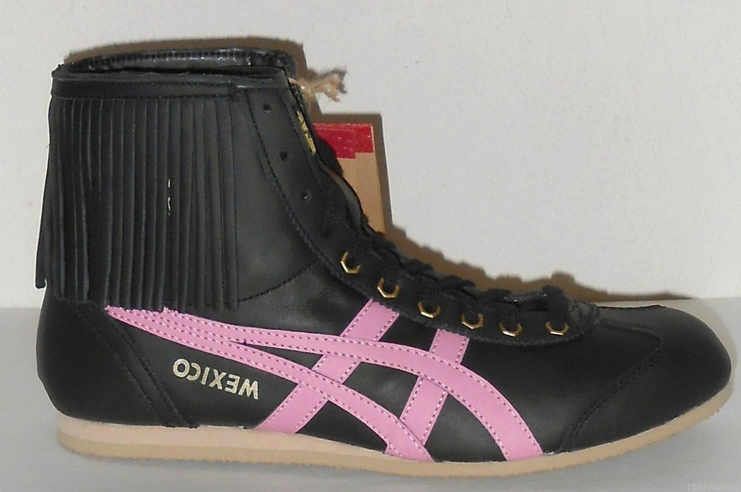 ASICS Onitsuka Tiger Women's Mexico Mid Boots Leather Sneake