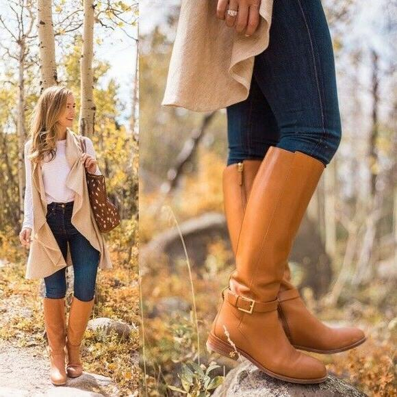 Authentic Tory Woman's Brooke Knee High Leather Boots