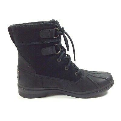 UGG Lace Up Black Duck Boots