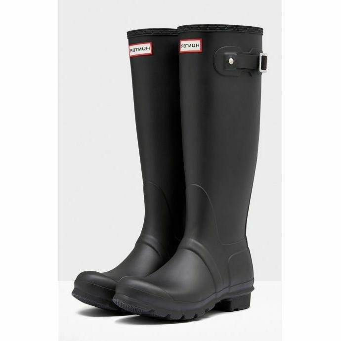 Hunter Boots Tall for Women Black, Size 8