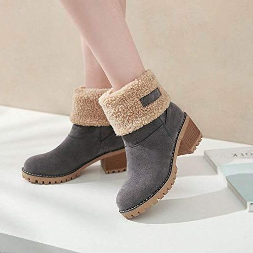Londony♥‿♥ Sales,Women's Boots Fur Trim Style Bootie 815 Ankle