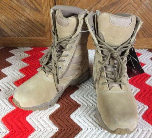 """ROTHCO FORCED ENTRY 8"""" DEPLOYMENT BOOTS WITH SIDE ZIPPER Wom"""