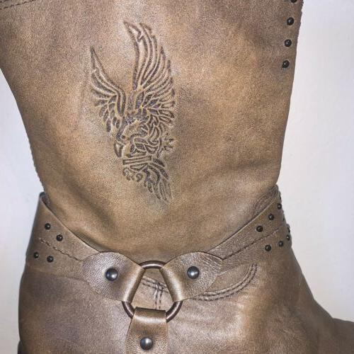 Harley Leather Womens Size 11 Eagle Motorcycle
