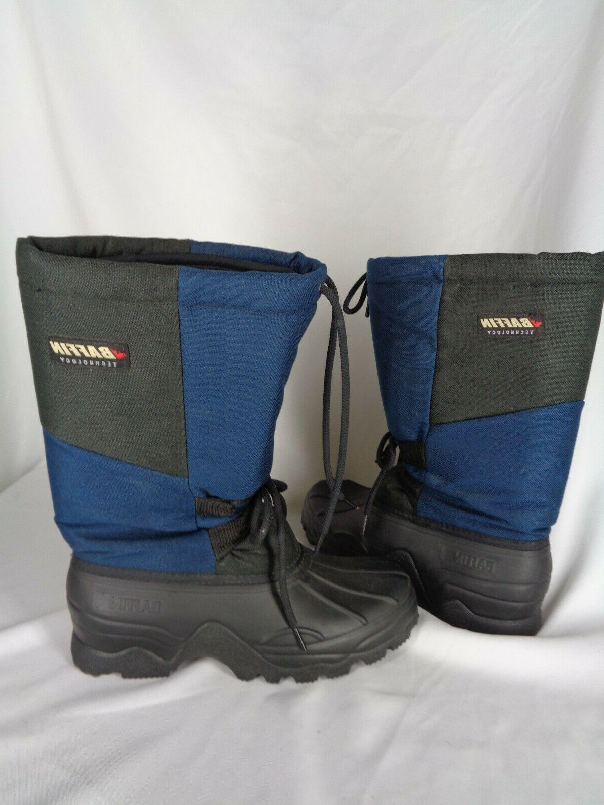 Baffin Insulated Snow boots 9 7 Black Wool lined