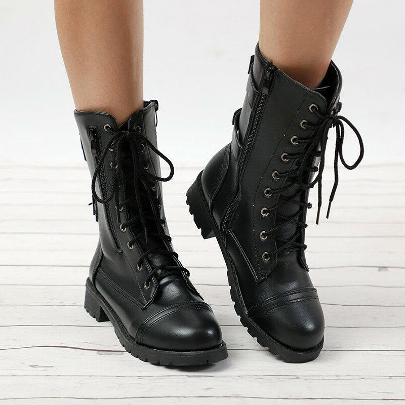 Ladies Boots Army Up Biker