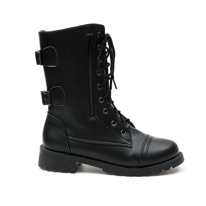 Women Combat Lace Up Women Fashion Boot 6-10.5