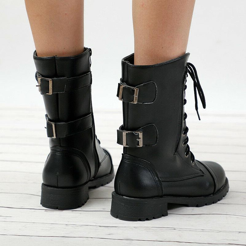 Women Military Lace Women Boot 6-10.5