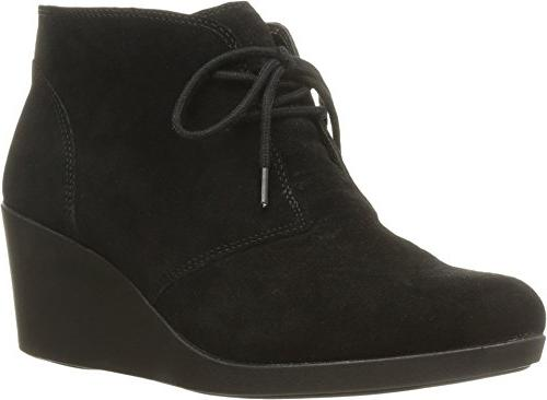 leigh suede wedge shootie boot