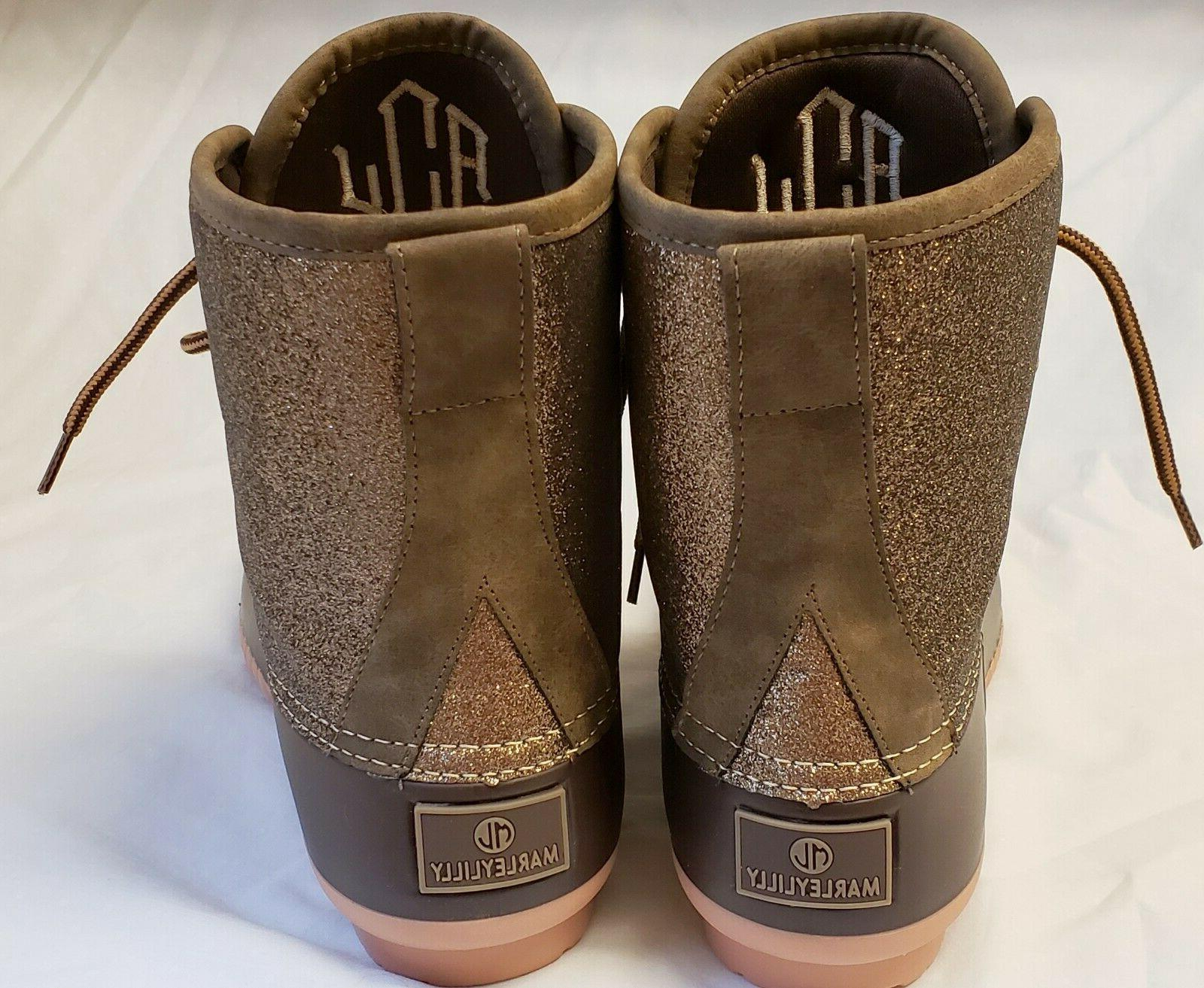 Marleylilly Boots Women's Brown in Box