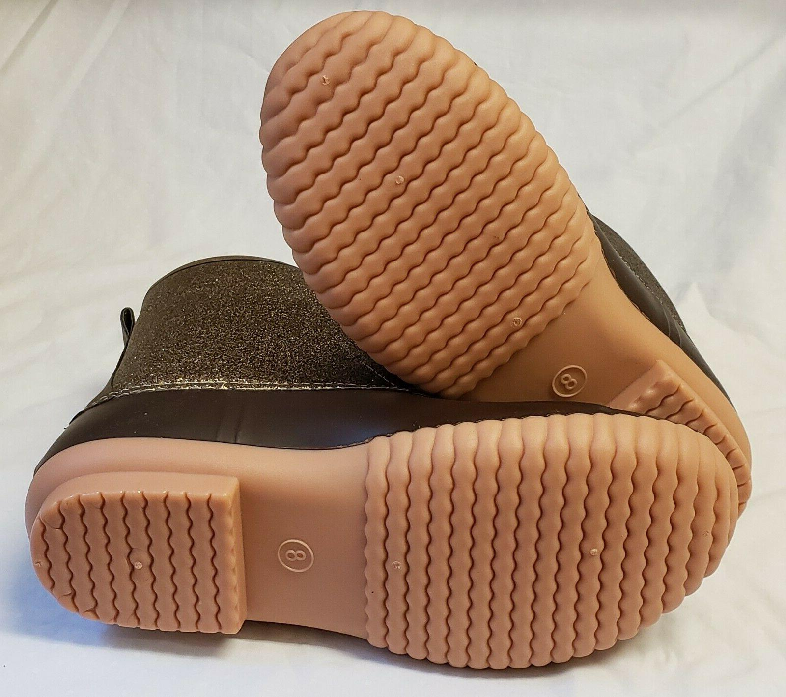 Marleylilly Monogrammed LAC Duck Boots Size 8 Brown Box