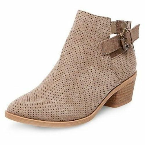 NEW Dolce Vita DV Women's Sam Perforated Ankle Booties Boots
