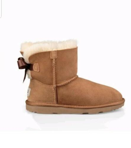 NEW BOOTS WOMENS Mini Bow Chestnut GENUINE SIZE 7.5