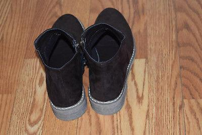 NEW Suede Bootie Boots Size 8