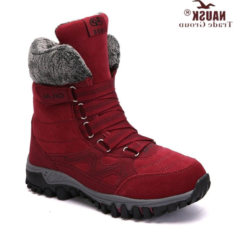 NAUSK <font><b>Boots</b></font> High Quality Winter Woman Keep Warm Snow <font><b>Boots</b></font> mujer