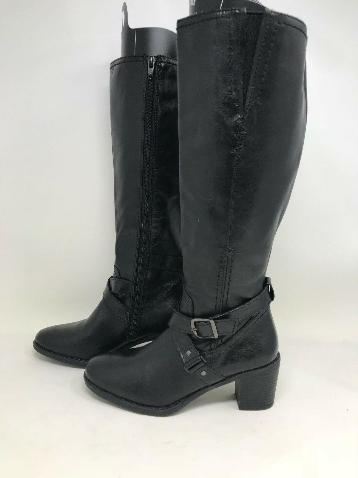 New! Women's Skechers 48498 Knee High Zipper Boots - Black B