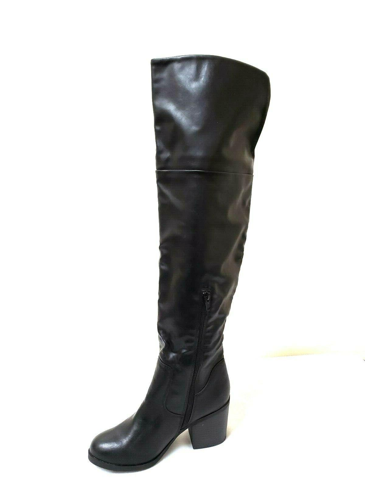 New! MOSSIMO Tall Fashion Boots Black