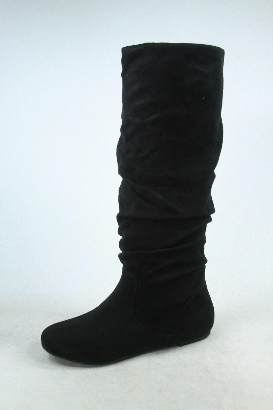 NEW Women's Leather Flat Knee High Boots Size 6 -