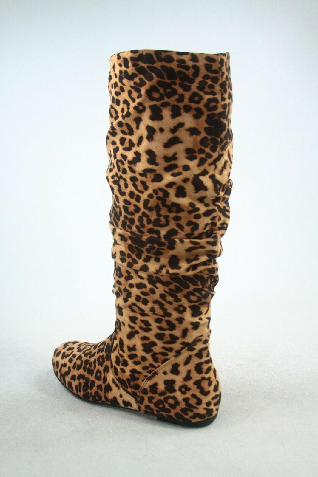 NEW Women's Suede Leather Knee High Boots Size 6 -