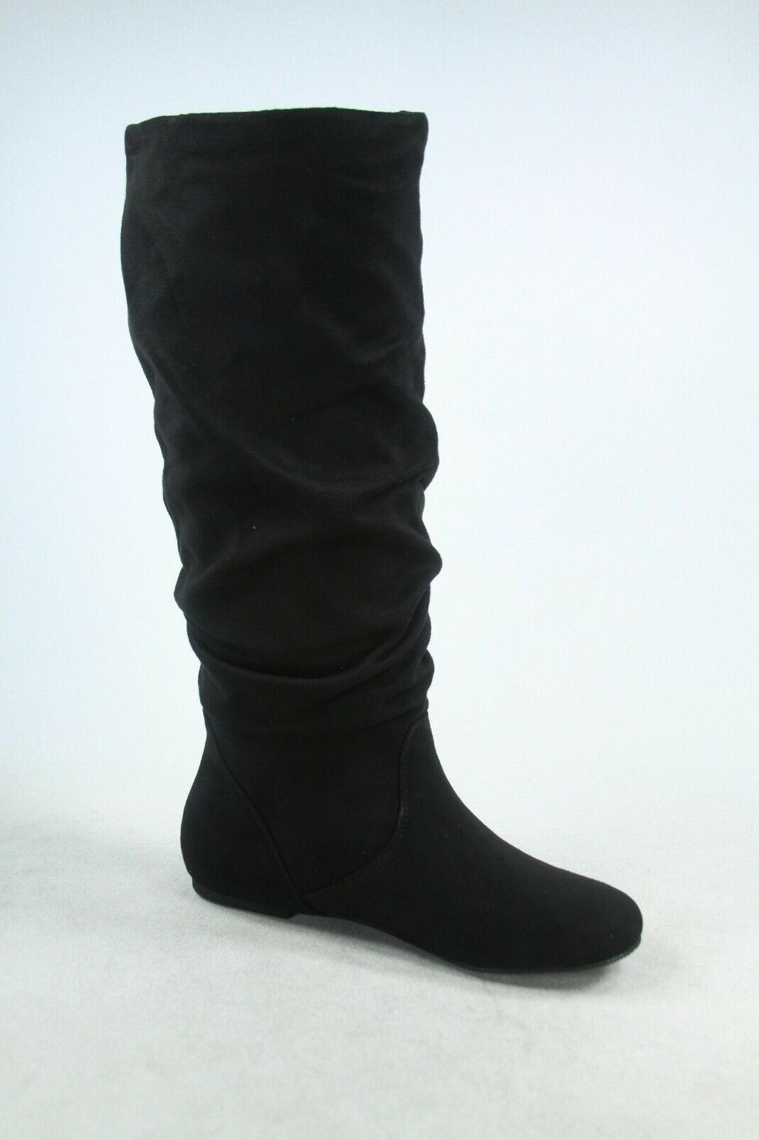 NEW Faux Suede Leather Knee Boots Size 6 -