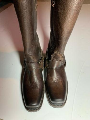 """NW Vintage Shoes Gretchen Boots Brown Leather Women 9"""" Made In usa"""