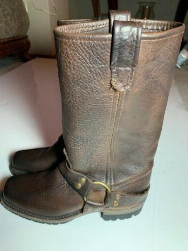 nw gretchen boots brown leather women size