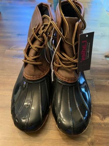nwt duck boots sizes 8 black brown