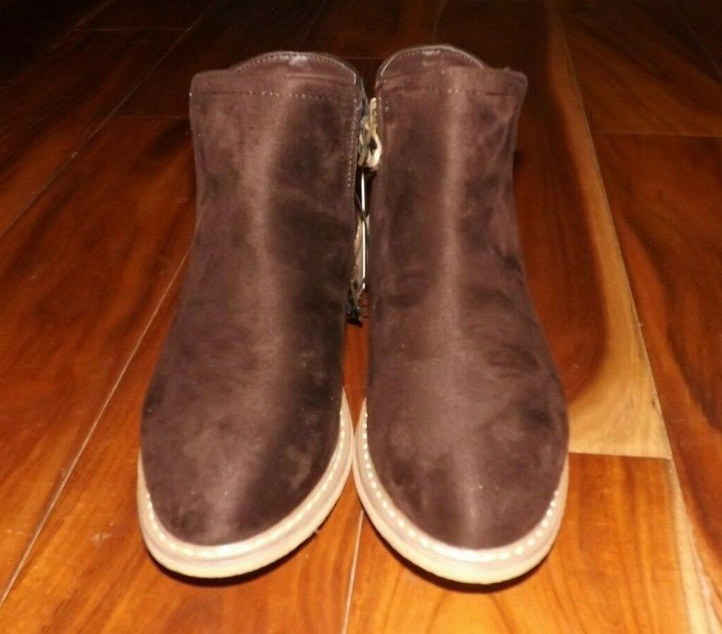 NWT Brown Suede Bootie Size 8