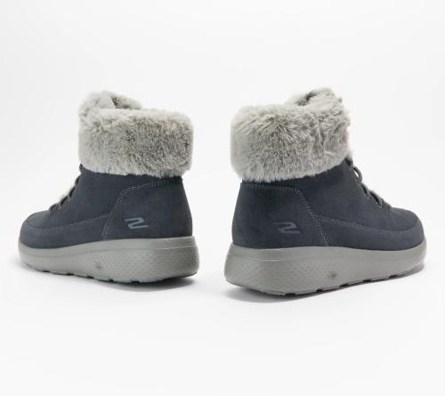 Skechers On The City Women Boots Resistant Suede