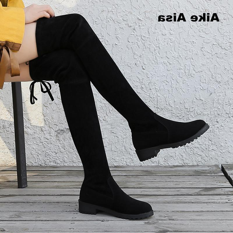The Knee Stretch Sexy Woman Shoes Bota zapatos mujer